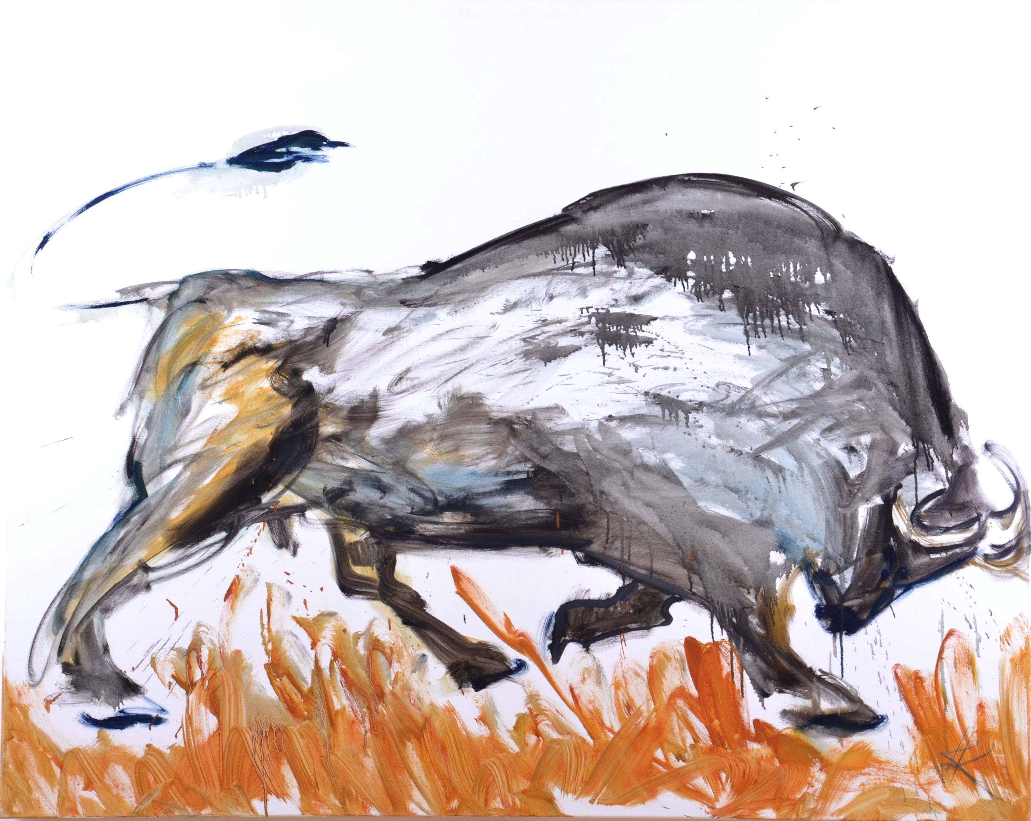Stier, Öl auf Leinwand, 150 x 120, (2017)